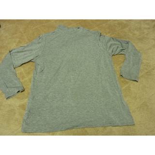 グレー タートルネックシャツ(シャツ/ブラウス(長袖/七分))