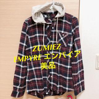 エンパイア(EMPIRE)のアメリカ ZUMIEZ・エンパイアEMPYREフード付チェックシャツ(シャツ/ブラウス(長袖/七分))
