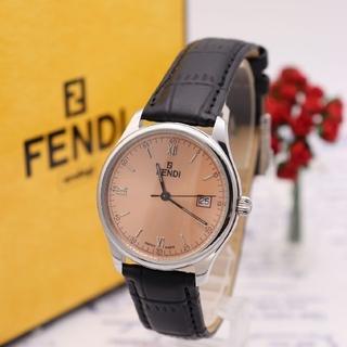 フェンディ(FENDI)の正規品【新品電池】FENDI 210G/ピンク デイト 人気モデル(腕時計(アナログ))