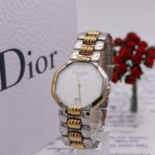 クリスチャンディオール(Christian Dior)の正規品【新品電池】ChristianDior 45.204/コンビ 動作品(腕時計(アナログ))