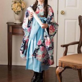 キャサリンコテージ(Catherine Cottage)の美品 キャサリンコテージ 袴セット+髪飾り3点 150㎝ 水色 卒業式(和服/着物)