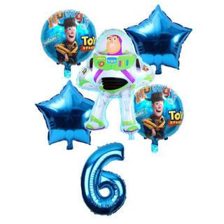 ディズニー(Disney)の6歳 ♡ バースデー 誕生日 バルーン セット ◎バズ (ガーランド)