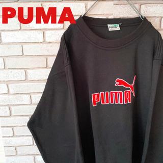 プーマ(PUMA)の【美品】プーマ PUMA スウェット デカロゴ  XL 黒 90s(スウェット)