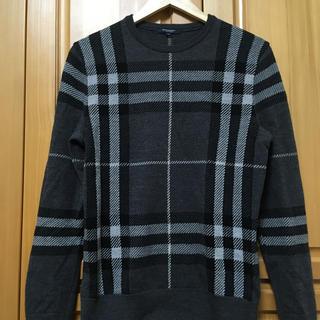 BURBERRY - BURBERRY LONDON チェックセーター グレー