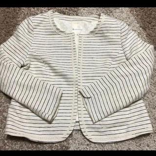 クミキョク(kumikyoku(組曲))のジャケット 組曲 ツイードのジャケット オフホワイト×ネイビー(テーラードジャケット)