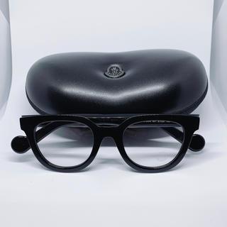 モンクレール(MONCLER)のMONCLER アイウェア モンクレール 眼鏡 メガネ ブラック フレーム(サングラス/メガネ)