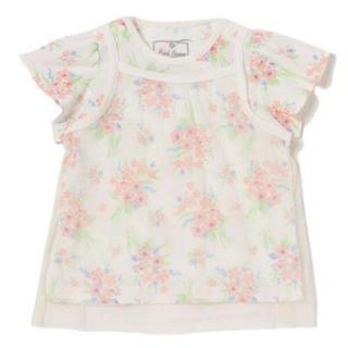 ナルミヤ インターナショナル(NARUMIYA INTERNATIONAL)のキャミレイヤードデザイン花柄Tシャツ(Tシャツ)