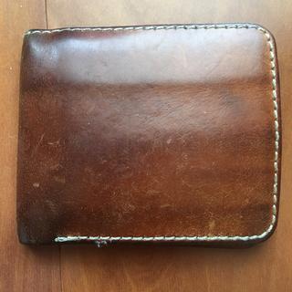 ヘルツ(HERZ)のHERZ 二つ折り革財布 ブラウン(折り財布)