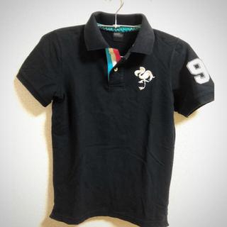 キスマーク(kissmark)のkissmark 刺繍ポロシャツ ブラック 美品(シャツ)