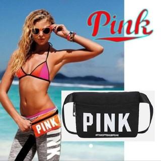 ヴィクトリアズシークレット(Victoria's Secret)のVictoria seclet Pink ウエストポーチ 黒 中古(ボディバッグ/ウエストポーチ)