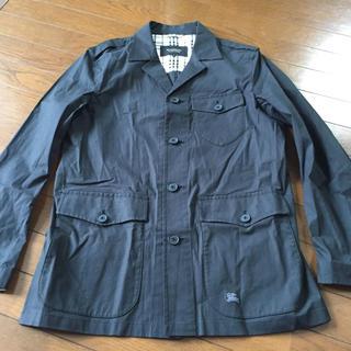 バーバリーブラックレーベル(BURBERRY BLACK LABEL)のバーバリーブラックレーベル☆薄手サファリジャケットコート(ミリタリージャケット)