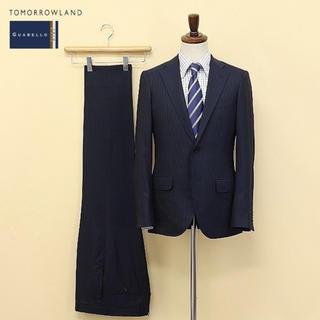 TOMORROWLAND - 美品定価8万 TOMORROWLAND 2Bストライプスーツ ネイビー 44