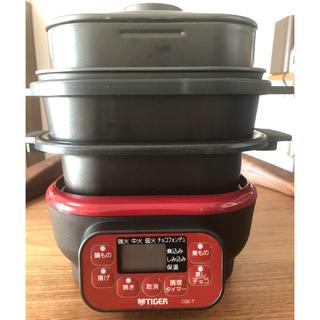 タイガー(TIGER)のタイガーマイコンテーブルクッカー CQC-T070(調理機器)