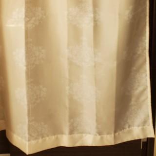 フランフラン(Francfranc)の【美品】Francfranc レースカーテン アイボリー 100×198cm(レースカーテン)