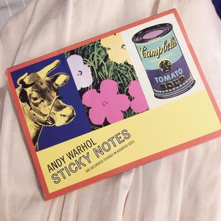 アンディウォーホル(Andy Warhol)のANDY WARHOL  付箋 セット(ノート/メモ帳/ふせん)