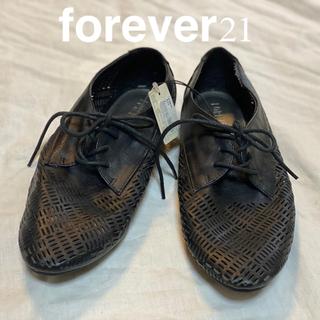 フォーエバートゥエンティーワン(FOREVER 21)の新品 24cm 37 forever21レースアップシューズ(ローファー/革靴)