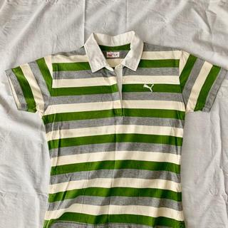 プーマ(PUMA)のプーマPUMAレディースボーダーシャツ(ポロシャツ)