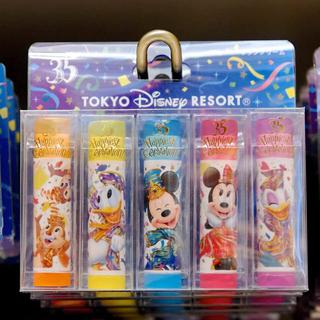 ディズニー(Disney)の✨バラ売り可能❗️DISNEY 35周年 リップクリーム✨(リップケア/リップクリーム)