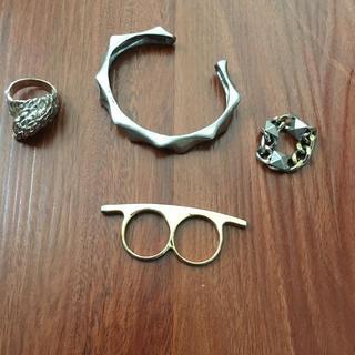 オープニングセレモニー(OPENING CEREMONY)のセール!個性デザインのリング ブレスレット セット(リング(指輪))