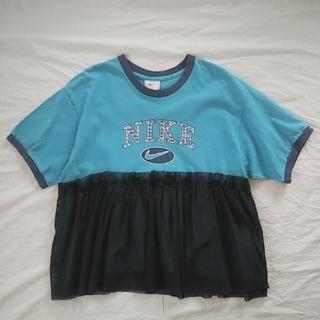 ナイキ(NIKE)のNIKE リメイクチュールTシャツ(Tシャツ(半袖/袖なし))