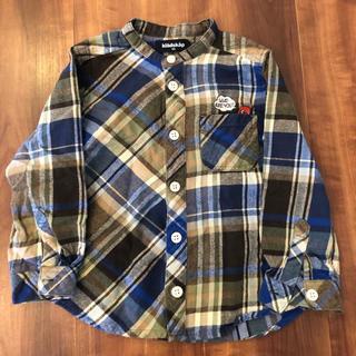 クレードスコープ(kladskap)のスタンドカラーチェックシャツ(カーディガン)