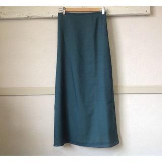 ホコモモラ(Jocomomola)のK444★ホコモモラ シビラ スカート40ミモレ丈 ロング 青緑 春夏 きれい色(ロングスカート)