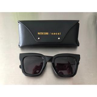 サカイ(sacai)のsacai NATIVE SONS サングラス ブラック ネイティブサンズ 眼鏡(サングラス/メガネ)