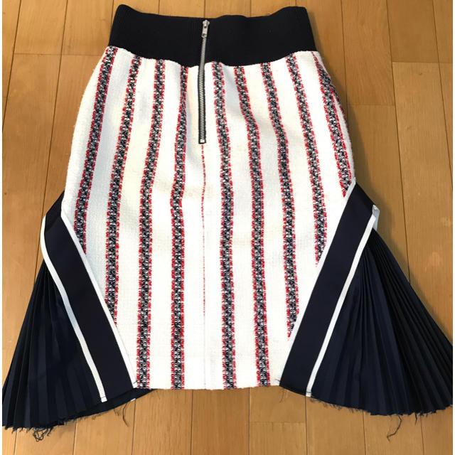 sacai luck(サカイラック)の【ピーナッツ村のピーナツ様用】sacai luck プリーツコンビスカート レディースのスカート(ひざ丈スカート)の商品写真