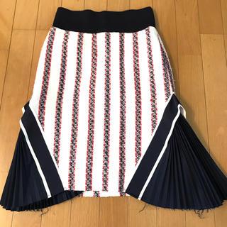 サカイラック(sacai luck)の【ピーナッツ村のピーナツ様用】sacai luck プリーツコンビスカート(ひざ丈スカート)