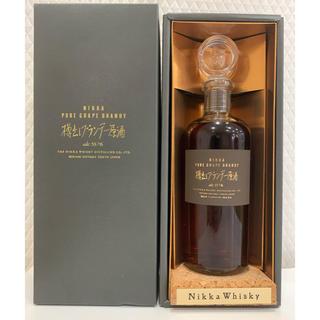 ニッカウイスキー(ニッカウヰスキー)のニッカ 樽出しブランデー原酒 Alc 55.7% 箱付き(ブランデー)