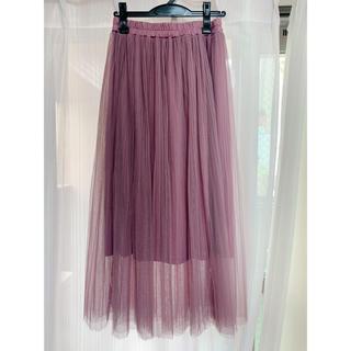 チュールスカート プリーツスカート(ロングスカート)