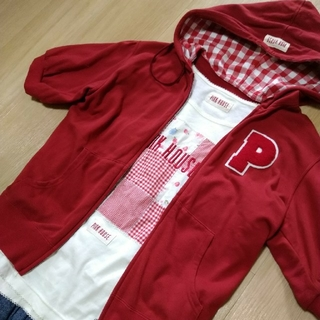 ピンクハウス(PINK HOUSE)のピンクハウス サガラワッペン付 半袖パーカー(パーカー)