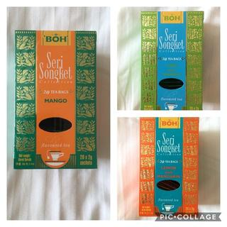 ボー(BOH)のBOH TEA☆ マンゴー・ライム&ジンジャー・レモン マンダリン(茶)
