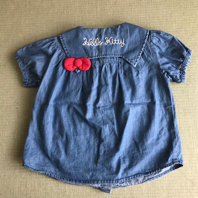 futafuta(フタフタ)のキティーちゃん シャツ 110 キッズ/ベビー/マタニティのキッズ服女の子用(90cm~)(ブラウス)の商品写真