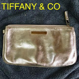 ティファニー(Tiffany & Co.)の未使用 TIFFANY レザー ゴールド  ポーチ(ポーチ)