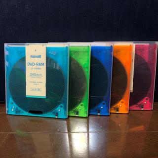 マクセル(maxell)のDVD-RAM メディア 5枚 maxell(DVDレコーダー)