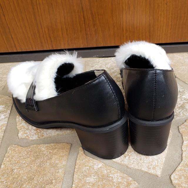 WEGO(ウィゴー)のWEGO♡ファー切替ローファー レディースの靴/シューズ(ローファー/革靴)の商品写真