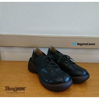 リゲッタカヌー(Regetta Canoe)のブロックヒール ブラック M  RegettaCanoe(リゲッタカヌー)(ローファー/革靴)