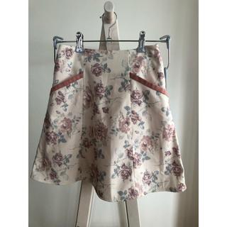 エブリン(evelyn)のAnMIILE ☽ 花柄パイピングスカート(ミニスカート)