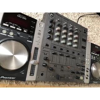 パイオニア(Pioneer)のPioneer CDJ-200×2台 DJM-600 おまけミキサーケース付き(CDJ)