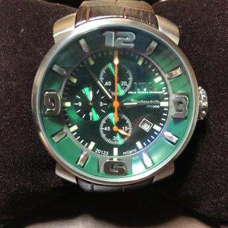アイティーエー(I.T.A.)の高級【美品‼️】I.T.A.⭐️カサノバクロノ グリーン アイティーエー 腕時計(腕時計(アナログ))