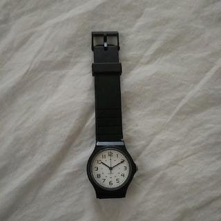 腕時計 シンプル 黒(腕時計)