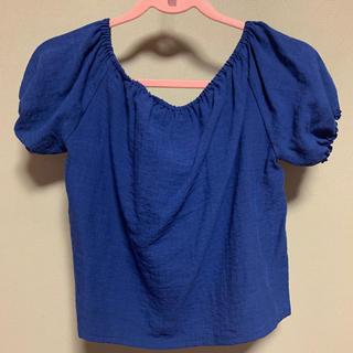 リゼクシー(RESEXXY)のRESEXXY トップス  ネイビー  紺 ブラウス(シャツ/ブラウス(半袖/袖なし))
