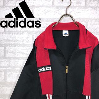 アディダス(adidas)の【激レア】adidas スイングジャケット ワンポイントロゴ マルチカラー XL(ブルゾン)