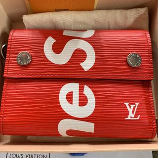 シュプリーム(Supreme)のSupreme Louis vuitton Epi Red LV(折り財布)