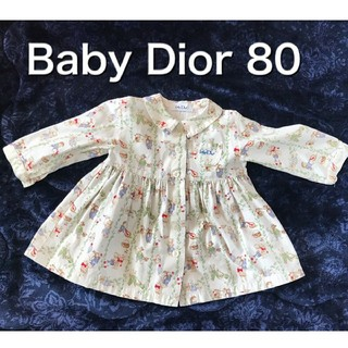 ベビーディオール(baby Dior)のベビーディオール Baby  Dior シャツワンピース 80(ワンピース)