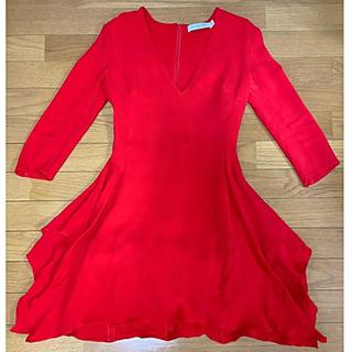 ディオール(Dior)のDior❤️赤ミニドレス(ミニワンピース)