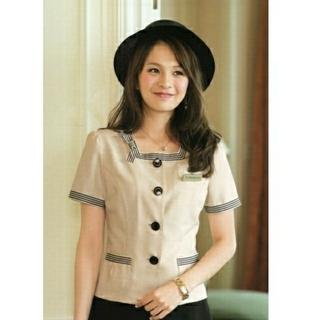 Joie (ファッション) - アンジョア 7号 オーバーブラウス 事務服 受付 OL 制服 サマージャケット