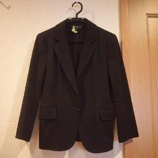 INDIVI - 七分袖 黒 ジャケット