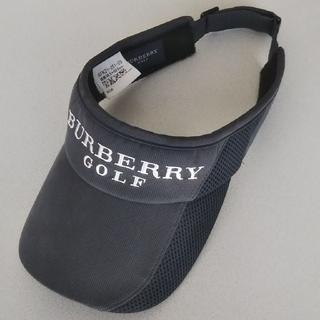 バーバリー(BURBERRY)の本物超希少バーバリーゴルフBURBERRYGOLFサンバイザーキャップサイズ調整(その他)